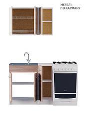 Вариант №1 Кухня ЭКС 0,9 м под накладную мойку, фото 3