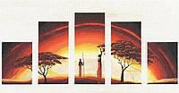 """Набор для вышивания крестом ТМ Золотое Руно """"Идиллия заката.Африканские истории"""" АИ-010"""