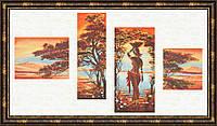 """Набор для вышивания крестом ТМ Золотое Руно """"Оранжевая река. Африканские истории"""" АИ-013"""