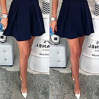 Юбка женская, модель 317 темно синяя 40