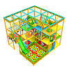 Детский игровой компелекс лабиринт «Апельсинка», угловой, 4*4 клетки - детские аттракционы