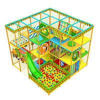 Детский игровой компелекс лабиринт «Апельсинка», угловой, 4*4 клетки - детские аттракционы, фото 1