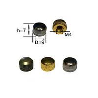 Декоративная гайка-шляпка (м-4) (Chrome) (Gold) (Bronze)   (шляпка, шлиц)