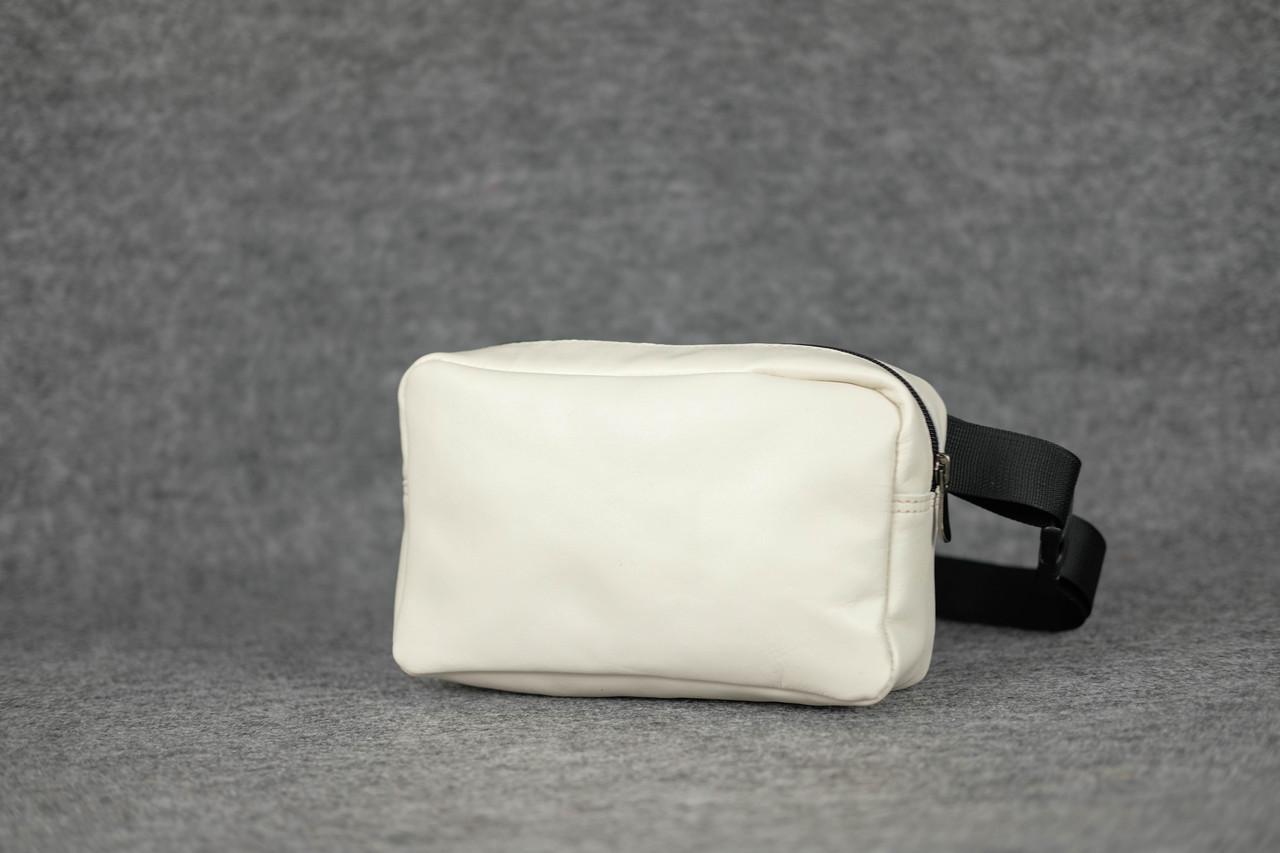Прямоугольная сумка бананка |11190| Белый
