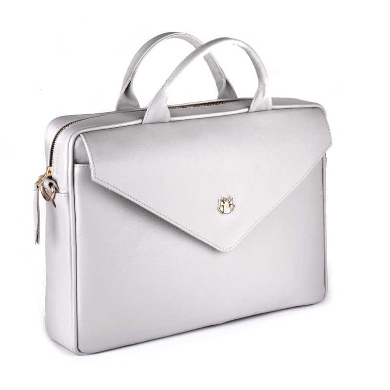 0751d3965b49 Кожаная женская сумка для ноутбука серая Felice Fl15 - Цена, купить ...