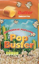 Попкорн для микроволновой печи со вкусом сливочного масла Pop Buster
