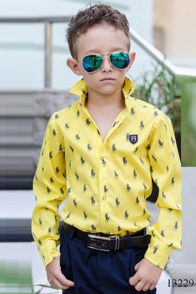 2bf625b59a5a Рубашка на мальчиков Polo желтая