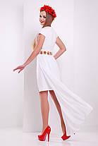 Красивое белое  платье с маками в этно-стиле шифон размер S, M, L , фото 2