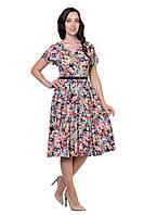 """Платье женское """"Флоренс"""" с цветочным принтом (8493-1)"""