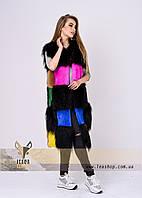 Цветная меховая жилетка для стильных и модных девушек