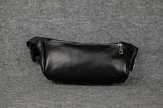 Сумка бананка мини с черным ремнем |11186| Черный