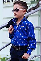 Рубашка на мальчиков Polo индиго, фото 1