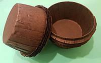 Тарталетки (капсулы) бумажные для кексов, капкейков с УСИЛИТЕЛЕМ Коричневые