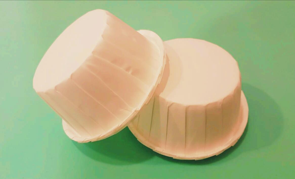 Тарталетки (капсулы) бумажные для кексов, капкейков с УСИЛИТЕЛЕМ Белые