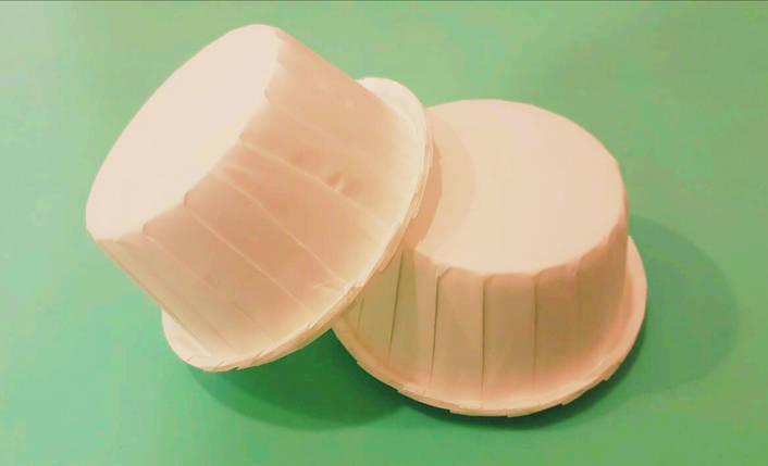 Тарталетки (капсулы) бумажные для кексов, капкейков с УСИЛИТЕЛЕМ Белые, фото 2