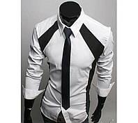 Модная рубашка мужская (Белый)