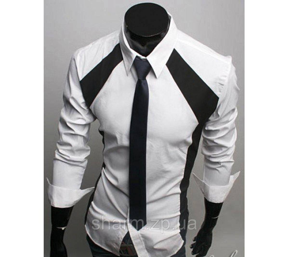 f6053232194b76a Модная Рубашка Мужская (Белый) — в Категории