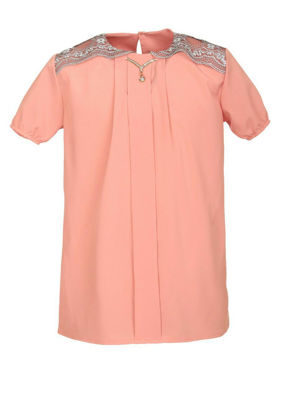 Красива яскрава блуза для дівчинки в школу р. 128-146