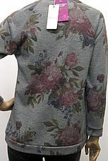 Жіночий світшот із люрексом і квітковим принтом , фото 3