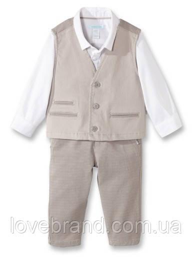 Праздничный костюм для мальчика Okaidi (Франция) рубашка, штанишки и жилетка  23 мес./86 см
