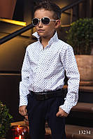 Хлопковая рубашка на мальчиков Louis Vuitton белая, фото 1