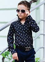 Хлопковая рубашка на мальчиков Polo черная, фото 1