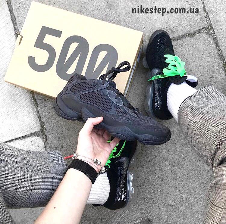 4c4e22e191a2 Кроссовки Adidas Yeezy 500 Utility Black реплика (живые фото ...