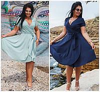 Літнє плаття на запах Батал до 56р 16758, фото 1