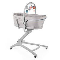 Кроватка стульчик Chicco Baby Hug 4 в 1 серый
