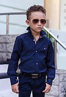Синяя рубашка на мальчиков , фото 1