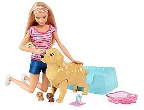 Кукла Барби с собакой и новорожденными щенками Блондинка Barbie Newborn Pups Doll, Blonde, фото 2