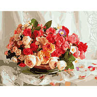"""Картина по номерам """"Бутоны роз"""" 50х65 см."""