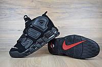 Мужские кроссовки Supreme X Nike Air More Uptempo Suptempo Black (Топ реплика ААА+)