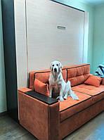 Шкаф-кровать двухспальная с пеналами и диваном