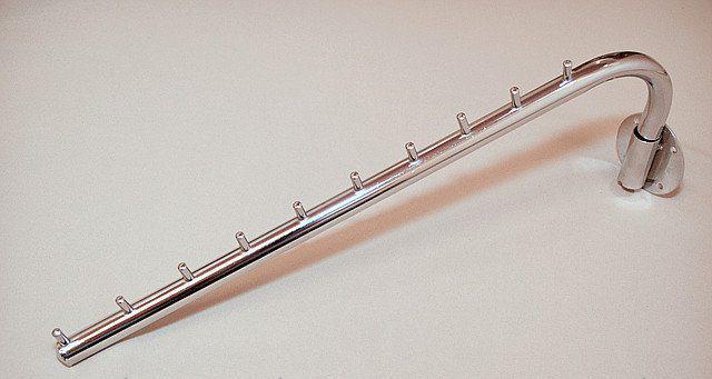 Флейта кронштейн кріпленням на стіну поворотна  довжиною 400мм хром для настінного торг обладнання