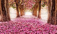 Фотообои корридор из цветов 3 D размер 368 х 254 см