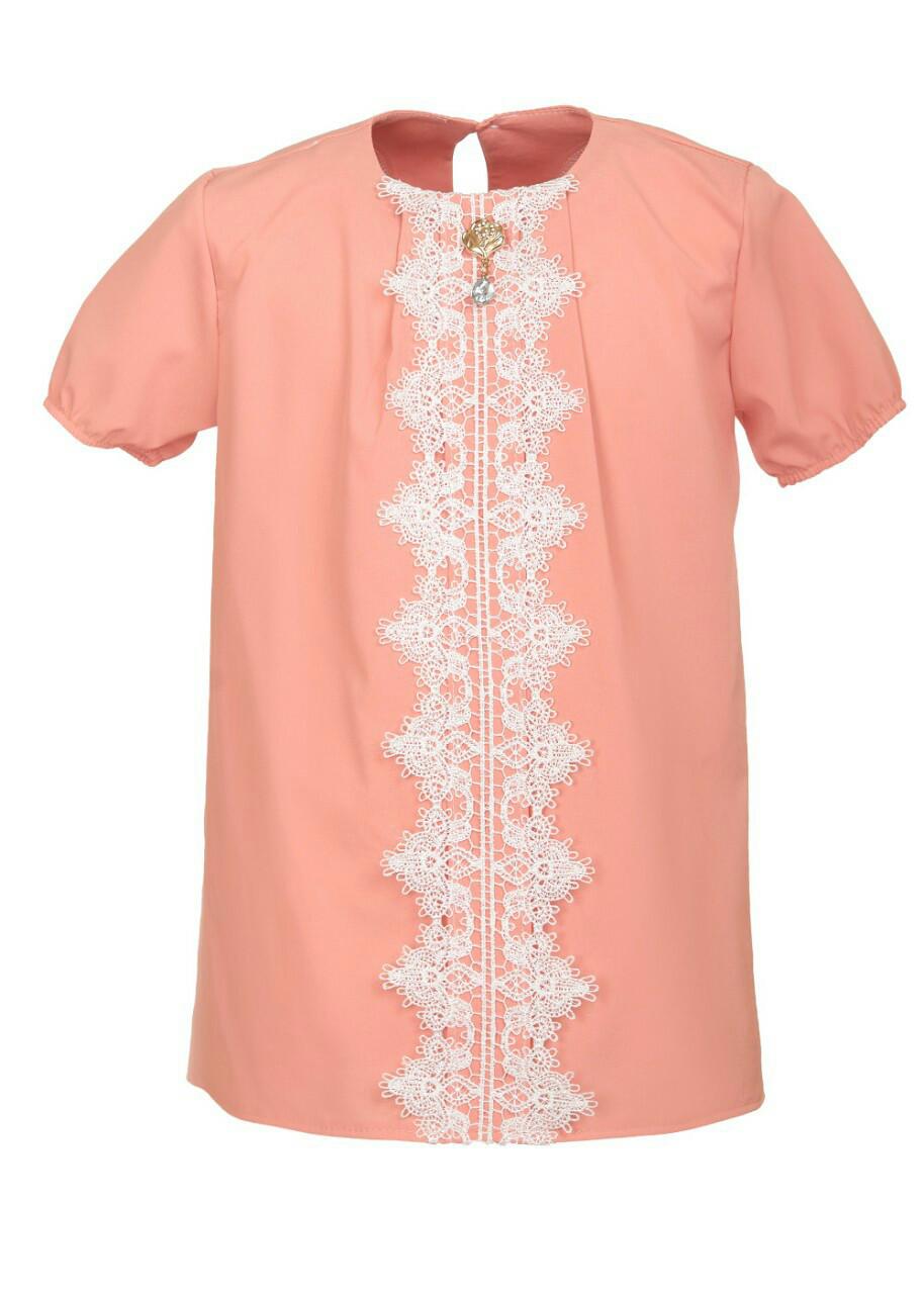 Красива ошатна блуза для дівчинки в школу 128-146