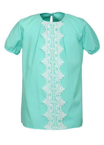 Красива ошатна блуза для дівчинки в школу 128-146, фото 2