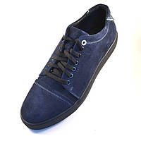 Замшевые кроссовки мужские кеды синие Rosso Avangard Gushe Blu Vel, фото 1
