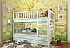 Двухъярусная кровать Arbordrev Смайл (80*200) сосна, фото 2