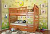 Двухъярусная кровать Arbordrev Смайл (80*200) сосна, фото 3