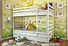 Двухъярусная кровать Arbordrev Рио (80*190) сосна, фото 2