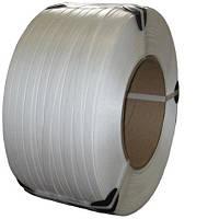 Стрічка пакувальна 16мм*0,8мм*1,5км  біла (первинка)