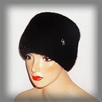 Женская меховая шапка из норки (кубанка)