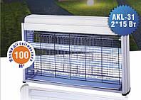 Ловушка для насекомых на 100м². Уничтожители насекомых . Электрический мухобойка DELUX  AKL-31