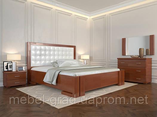 Кровать Arbordrev Амбер квадраты без ПМ (120*190) бук