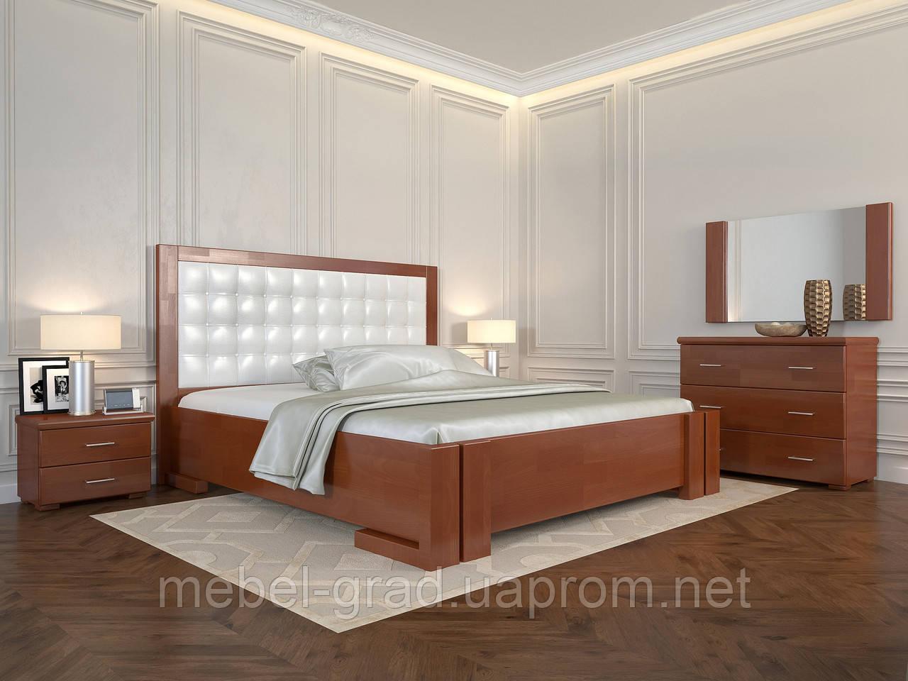 Кровать Arbordrev Амбер квадраты без ПМ (160*200) бук