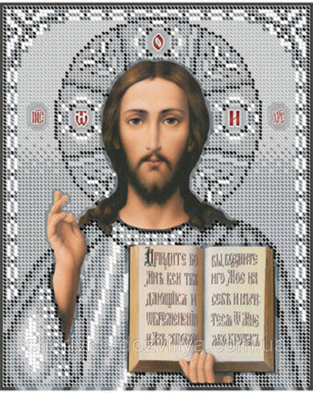 """Схема для вышивки бисером икона """"Иисус Христос"""""""