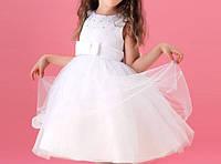 """Детское на 1 — 2 года пышное белое платье с бантом """"Белоснежка"""""""