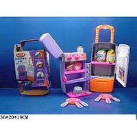 Игровой набор Холодильник-чемодан 9911  на колесах, с продуктами